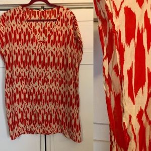 JCrew Ikat print tunic/coverup size L